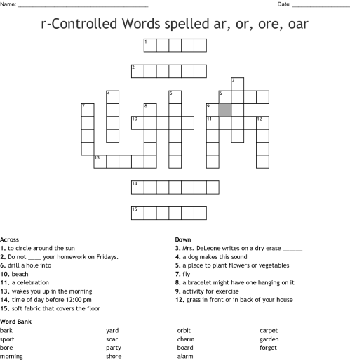 small resolution of Or Ore Oar Ar Worksheets   Printable Worksheets and Activities for  Teachers