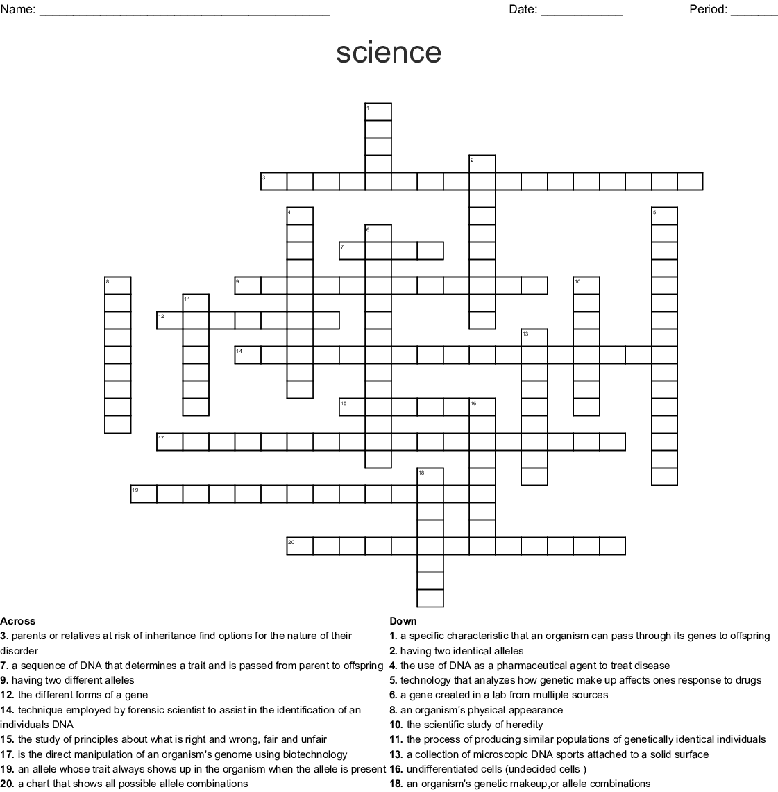 Similar To Biotechnology Dna Manipulation Word Search