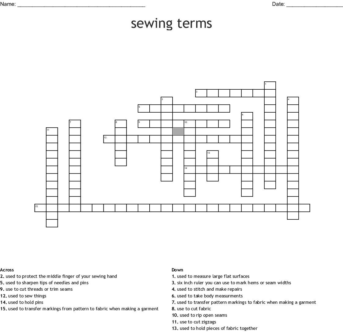 Sewing Pattern Symbols Worksheet Answers