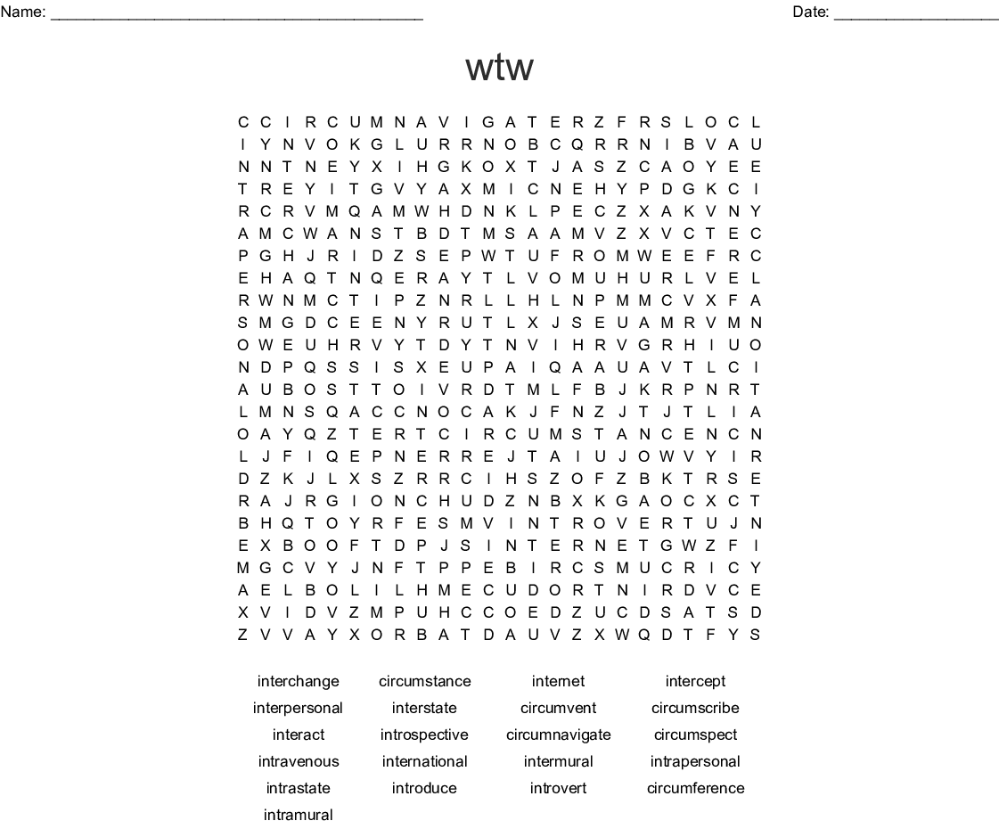 Similar To Sort 45 Wtw Word Search