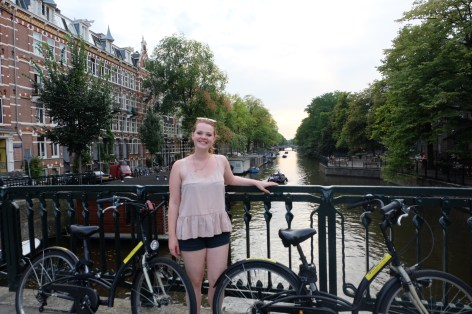 Cycling across the canals
