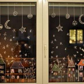 Slik dekorerer du vinduet for det nye året bildet 38