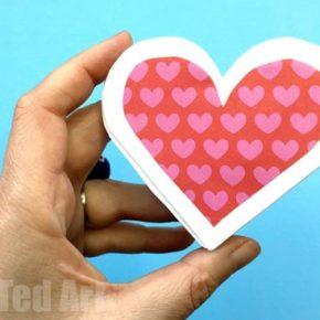 как сделать объемное сердце из бумаги фото 032