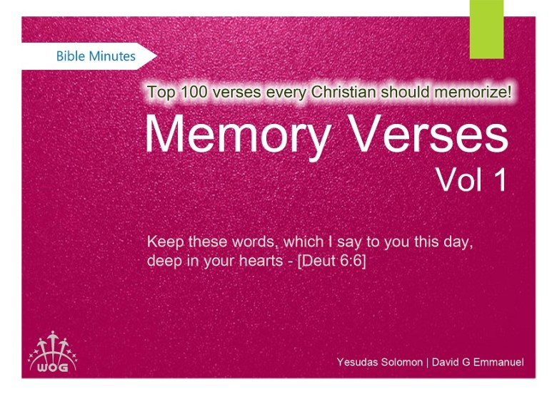 Download English Memory Verses For Adults From Niv Bible Volume 1