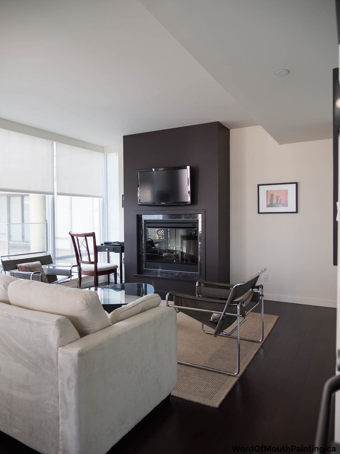 wall painting living room nice decorating ideas farrow & ball tanner's brown in downtown victoria - word ...