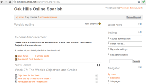 Example of Online Spanish Course
