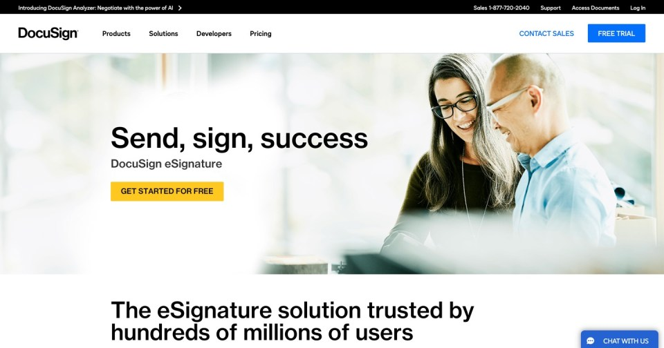 Docusign - document signing software for real estate syndicators