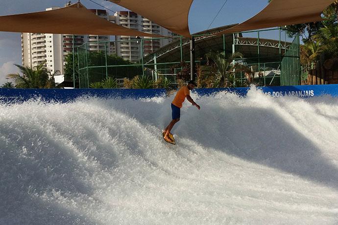 Pista de surf do thermas