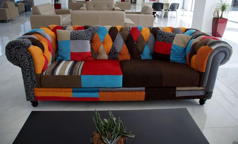colourful upholstery sofa