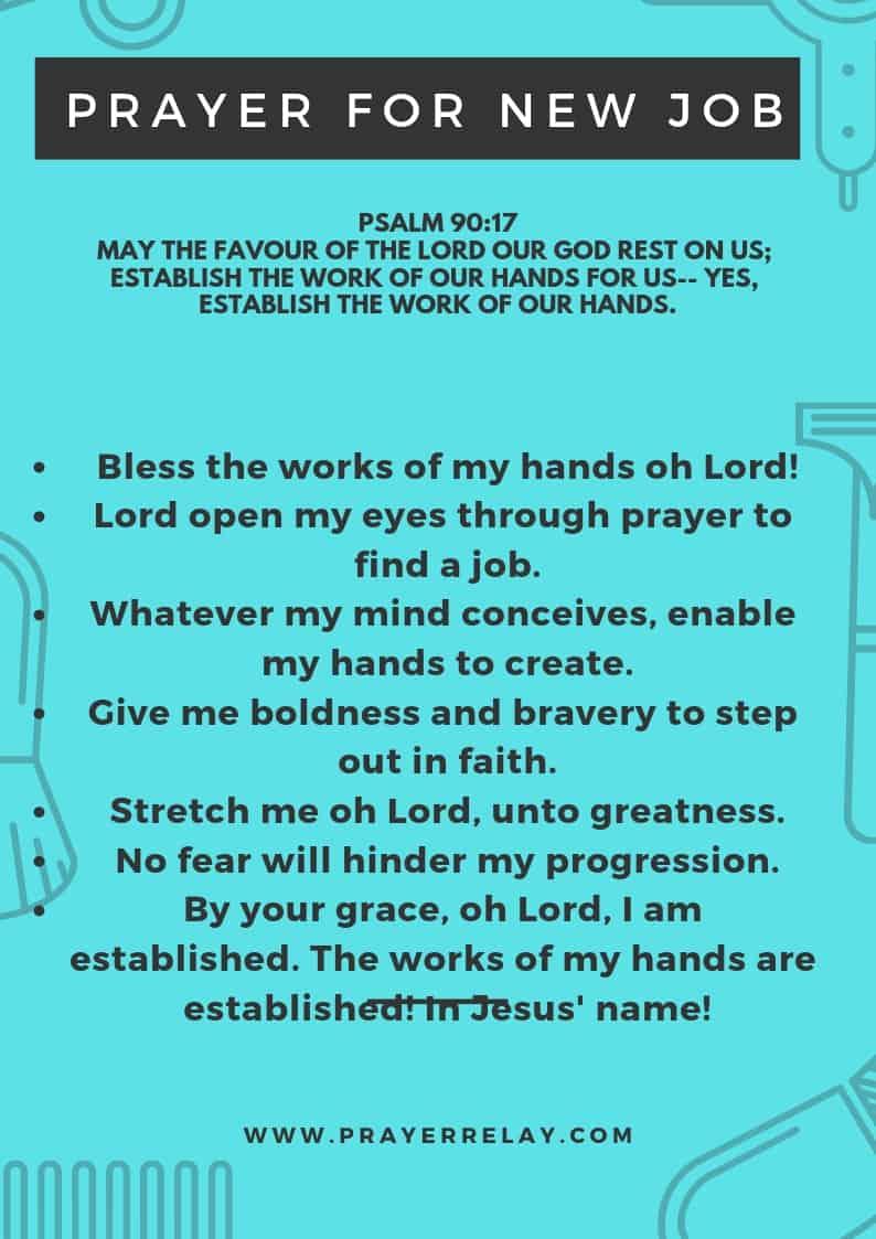 PRAYER FOR NEW JOB