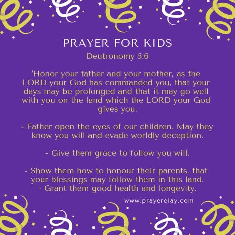 PRAYER FOR KIDS