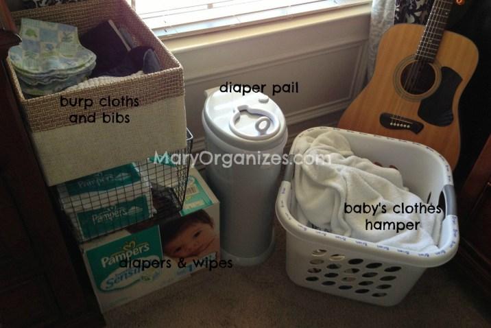 temp nursery setup