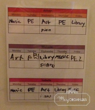 Keeping track of multiple kid schedules