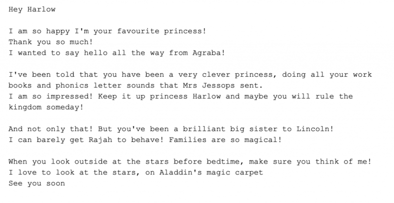 Example Script - Princess and Superhero Personalised Video Messages