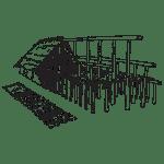 Plan et élévation d'une maison danubienne