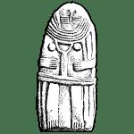 Une statue menhir du Néolithique