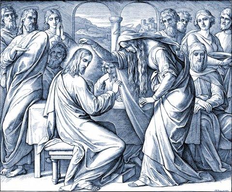 Jésus, Bethanie, Julius Schnorr von Carolsfeld