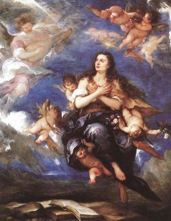 Marie-Madeleine portée par les anges