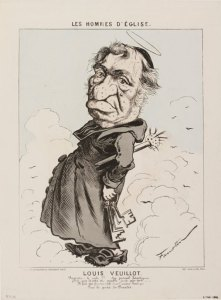 Caricature de Louis Veuillot