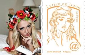 La leader femen, muse du nouveau timbre Marianne en France