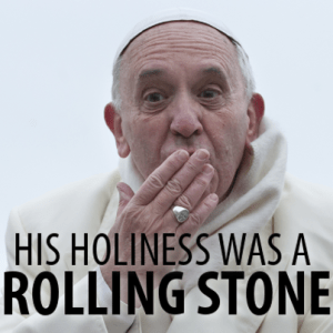pope Rolling Stone-
