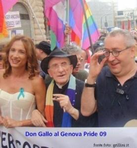 """Vladimir """"Vladi"""" Luxuria, Don Gallo et Franco Grillini à la marche pro-sodomie"""