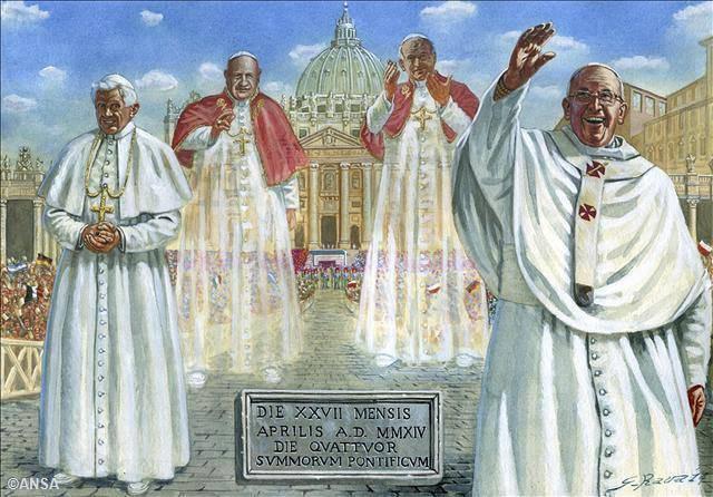 Les quatre frères Dalton conciliaires, deux déjà froids et deux encore tièdes...