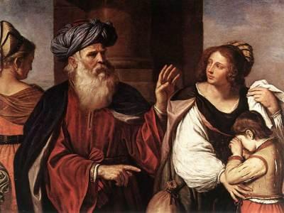 Abraham chassant Agar et Ismaël (Guercino)