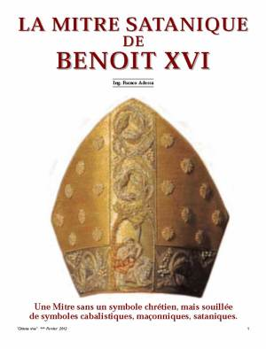 La mitre satanique de Benoît xvi