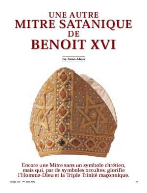 Une Autre Mitre satanique de Benoît xvi