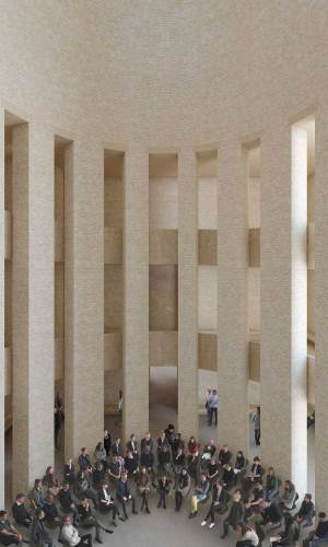 Bet--und-Lehrhaus-Petriplatz-Perspektive-Kuppelsaal