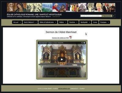 """Le site """"la foi.fr"""" publie le sermon de l'Abbé Marchiset"""