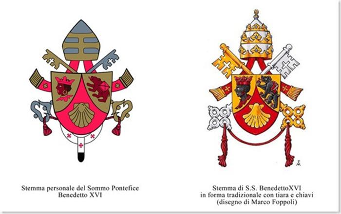 Armoiries « Apostoliques » de Benoît <abbr data-recalc-dims=