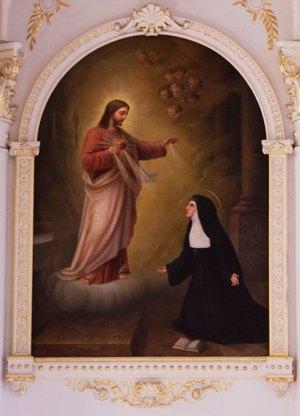 Peinture (Apparition du Sacré-Cœur devant Marguerite-Marie Alacoque)