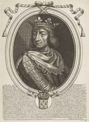 St Louis IX roi de France, Estampes par Nicolas de Larmessin.
