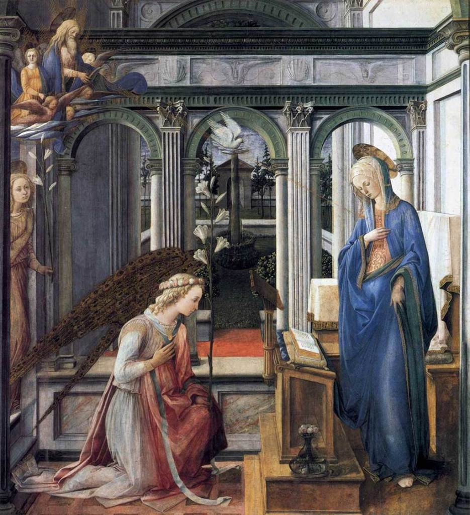 Annonciation, Lippi - Munich