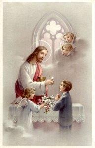 Jésus donnant la Communion