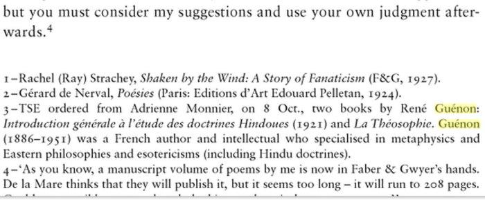Letter Eliot-Fletcher-Guenon theosophy Blavatsky