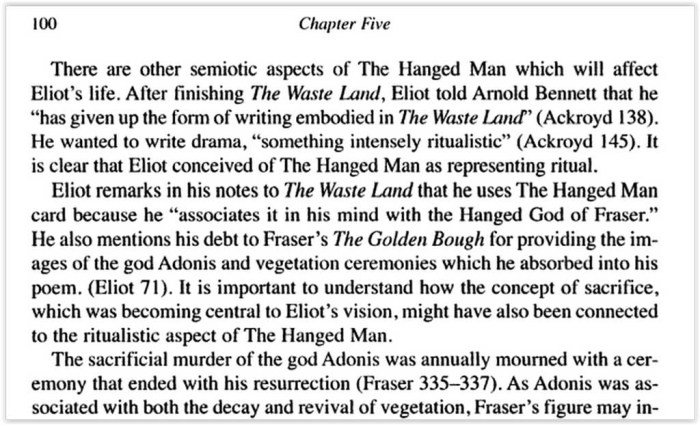 The hanged man Fraser-Eliot