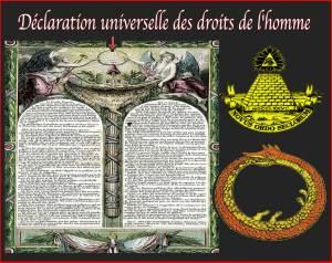 Déclaration Droits de l'homme ; Ouroboros-illuminati