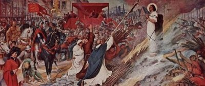 Supplice de Sainte Jeanne d'Arc à Rouen le 30 mai 1431