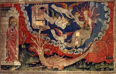 Angers, La femme et le dragon (scène de l'Apocalypse).