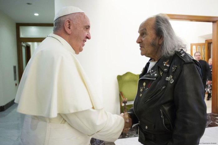 Guy Gilbert impressionné par pape-Francois au charisme déboulonnant
