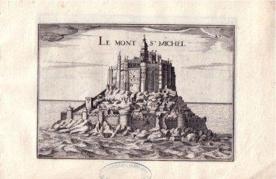 Le mont Saint-Michel, gravure de Nicolas Tassin, 1631.