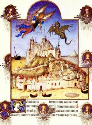 L'Archange, vainqueur de Satan au dessus du Mont Saint-Michel