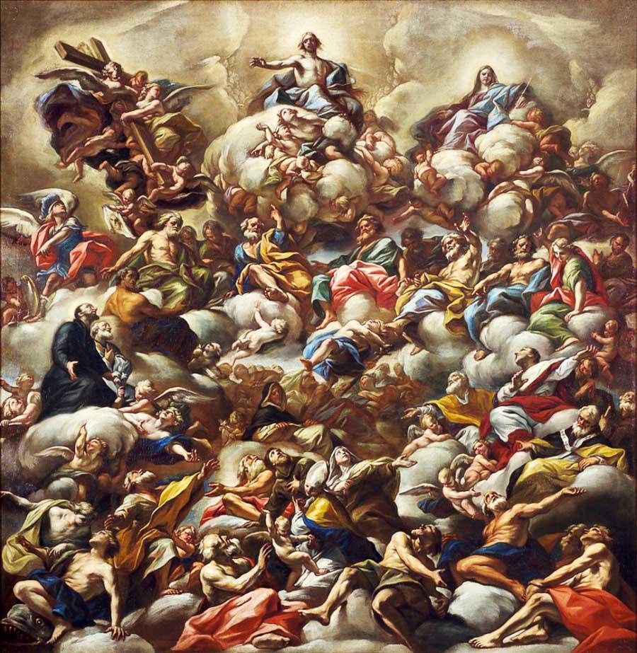 Le Christ en gloire entouré des saints, Giovanni Battista Beinaschi