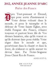 Prière des Francs