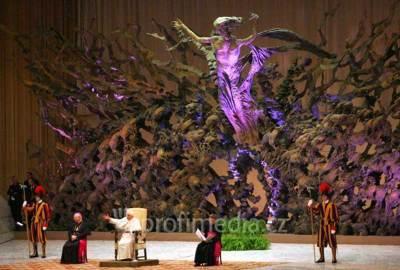 La salle Paul VI (appelée auparavant salle Nervi) au Vatican