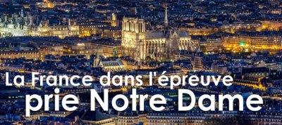 La France dans l'épreuve demande l'aide de la Vierge Marie