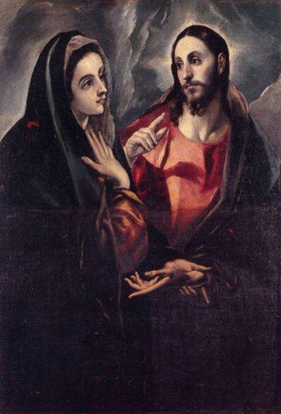 Le Greco : le Christ faisant Ses adieux à Sa Mère (1595 – Tolède, musée de Santa Cruz)